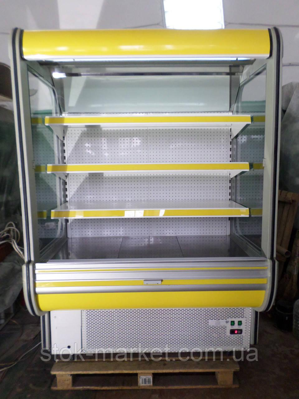 Холодильні гірки б/у, холодильний регал Cold R-14 б, пристінні вітрини гастрономічні, холодильна гірка