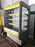Холодильні гірки б/у, холодильний регал Cold R-14 б, пристінні вітрини гастрономічні, холодильна гірка, фото 3