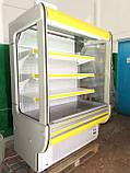 Холодильні гірки б/у, холодильний регал Cold R-14 б, пристінні вітрини гастрономічні, холодильна гірка, фото 7