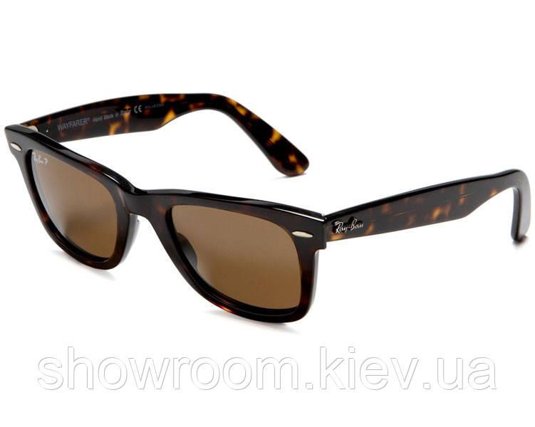 Мужские солнцезащитные очки в стиле RAY BAN Wayfarer 2140-902/57 LUX