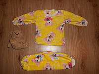 Пижама махровая (вел-софт) р110, р122 для мальчиков и девочек
