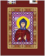 """Схема для вышивки бисером на подрамнике (холст) икона """"Святая Евдокия"""""""