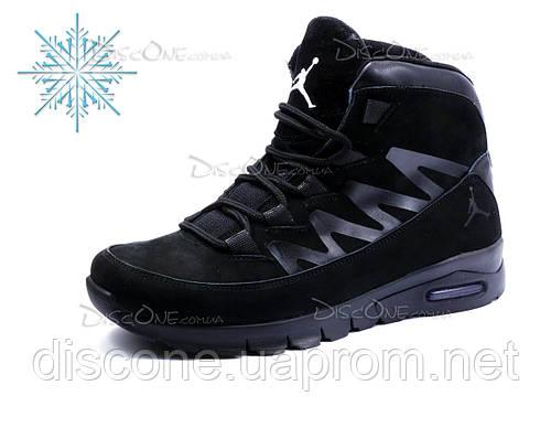 Зимние кроссовки Jordan, мужские, нубук, черные