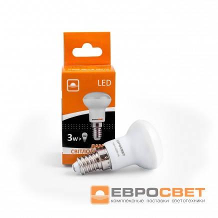 Лампа светодиодная Евросвет R39-3-3000-14 3вт 170-240V
