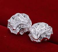 Сережки-гвоздики Розочки покрытие 925 серебро