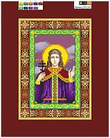 """Схема для вышивки бисером на подрамнике (холст) икона """"Святая Ирина"""""""
