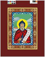 """Схема для вышивки бисером на подрамнике (холст) икона """"Святой Кирилл"""""""