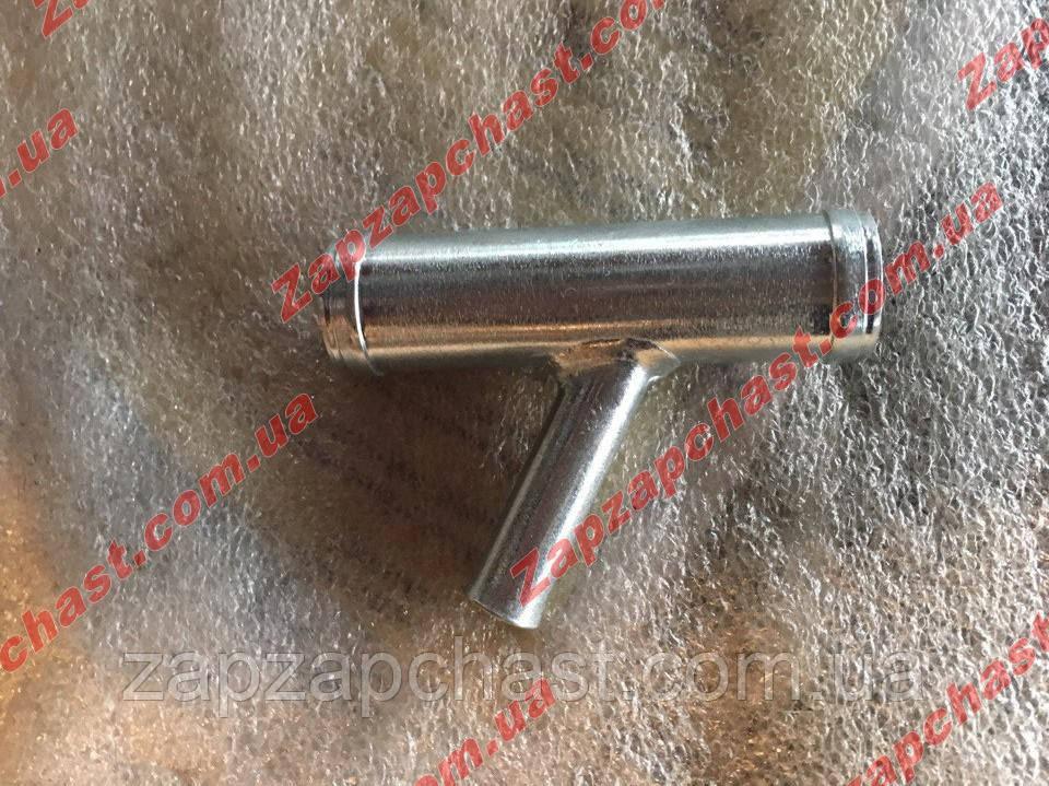Тройник системы охлаждения Заз 1102 1103 таврия славута сенс стальной (малый)