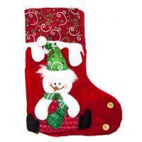 Новогодний носок «Снеговик» 19х14 .