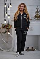 Женский спортивный костюм, трикотаж на флисе (Турция); разм 44, 46,48