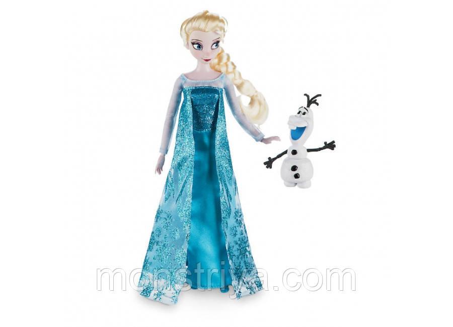 Кукла принцесса Эльза с снеговиком Олафом.Дисней Disney
