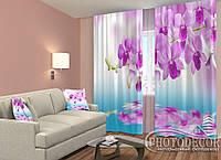 """ФотоШторы """"Малиновые орхидеи над водой"""""""