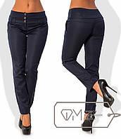 Стильные женские брюки (полированный стрейч-коттон, зауженные, широкий пояс) РАЗНЫЕ ЦВЕТА!