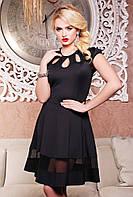 Платье Лилиана, черное 42-50 размер