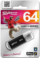Usb флеш silicon power ultimaii i-series 64 gb black (sp064gbuf2m01v1k)
