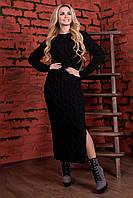 """Черное теплое платье """"Лало длинное"""" , фото 1"""