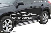 Подножки площадки нержавейка для Toyota Rav4 2010-2012, Ø 42 \ 51 \ 60 мм