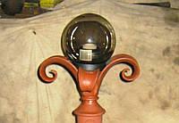 Кованные столб с фонарём
