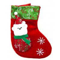 Новогодний  - рождественский носок «Дед Мороз» 9х19.