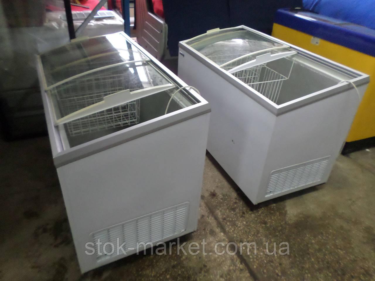 Морозильный ларь б у, камера морозильная, морозилка Klimasan D 400 DFSG AC с гнутыми раздвижными стеклами KLIM