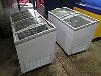Морозильный ларь б у, камера морозильная, морозилка Klimasan D 400 DFSG AC с гнутыми раздвижными стеклами KLIM, фото 1