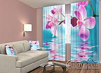 """ФотоШторы """"Небесные орхидеи"""" 2,5м*2,0м (2 половинки по 1,0м), тесьма"""