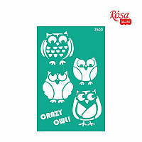 Трафарет многоразовый самоклеющийся, 13x20 см, №2500, Серия ''Животные'' ROSA Talent
