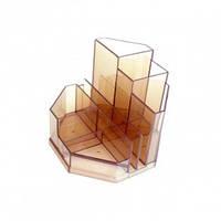 Подставка-органайзер Спектр 140х115х115мм пластик дымчатый (ПН-3д)