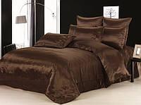 Полуторный комплект постельного белья Шоколад