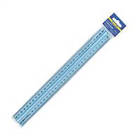 Линейка 30см Buromax пластик голубая с держателем BM.5828-30