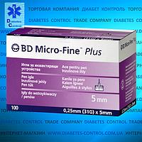 Иглы 5 мм для инсулиновых шприц-ручек Microfine / Микрофайн универсальные 100 шт.