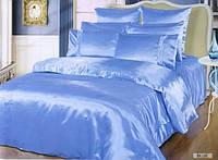 Полуторный комплект постельного белья Голубой