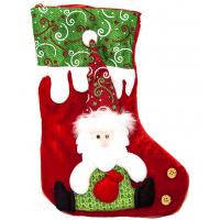 Новогодний носок для подарков Деда Мороза .
