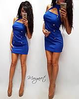 Короткое платье с открытыми плечами в расцветках y-2032200