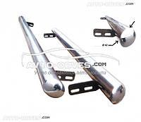 Боковые подножки из нержавеющей стали для Nissan Juke 2010-2014, Ø 42 \ 51 \ 60 мм
