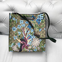 Сумка Gucci XL Blooms Canvas Tote с птицей
