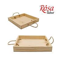 Поднос деревянный, 37х26,5х9,3см, ТМ ROSA Talent