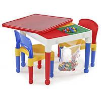 LEGO Игровой стол Лего 2 в 1 квадратный - 1
