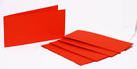 Набор заготовок для открыток 5шт 15.5х15.5 см №9 красный 220г/м2