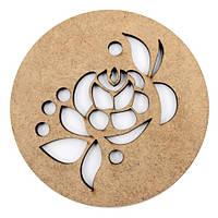 Набор круглых подставок для чашек, серия ''Цветочный орнамент'', 2шт, МДФ, Д:10см, ТМ ROSA Talent