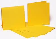 Набор заготовок для открыток 5шт, 16,8х12см, №2, желтый, 220г/м2, ROSA Talent