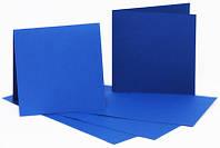 Набор заготовок для открыток 5шт, 16,8х12см, №4, тёмно-синий, 220г/м2, ROSA Talent
