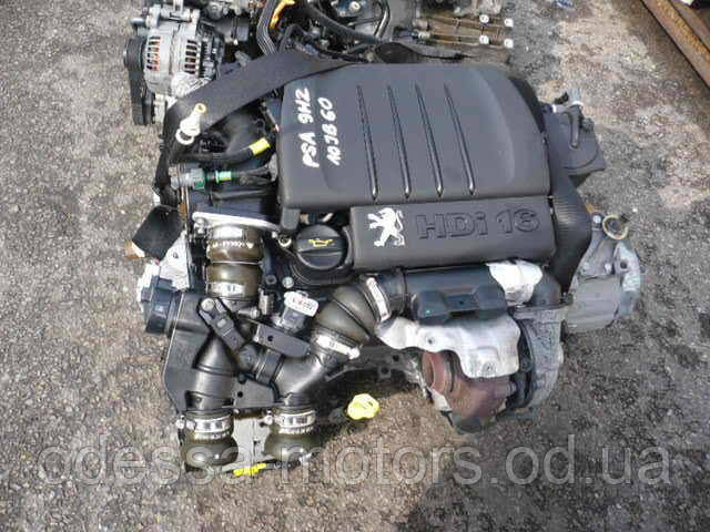 Двигатель Peugeot 206 Hatchback 1.6 HDi 110, 2004-today тип мотора 9HY (DV6TED4), 9HZ (DV6TED4), фото 1