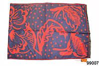 Кашемировый палантин Жар-птица темно-синий, фото 1