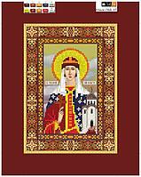 """Схема для вышивки бисером на подрамнике (холст) икона """"Святая Ольга"""""""