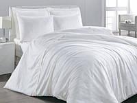 Белое Двуспальное постельное белье ранфорс Viluta