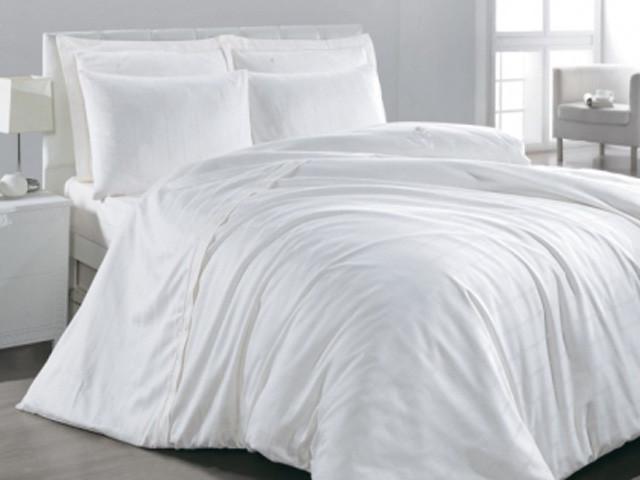 Белое Евро постельное белье ранфорс Viluta