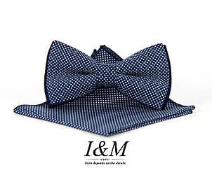 Галстук-бабочка + платок в пиджак (011116), фото 2