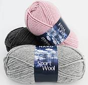 Nako sport wool (25% вовна,75% акрил /120 м / напіввовна / осінь-зима)