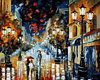 Картины раскраски по номерам 40×50 см. Дождь Художник Леонид Афремов